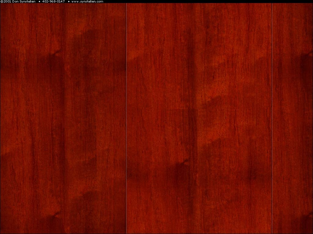 Cherry wood panelling